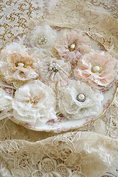 Gillyflowers - handmade lace brooches by Jennelise. www.etsy.com/shop/Jenneliserose