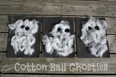 cotton ball ghosties