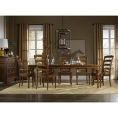 Hooker Furniture Tynecastle Rectangle Dining Table SetLet this Rectangular Dining Table set the stage of modern elegance in your home to enj Rectangle Dining Table, Solid Wood Dining Set, Dining Table Legs, Dining Room Sets, Extendable Dining Table, Dining Table In Kitchen, A Table, Dining Chairs, Room Chairs