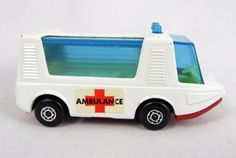 Vtg 1971 Matchbox Superfast #46 STRETCHA FETCHA Ambulance Lesney DieCast Toy Car #MatchboxLesney