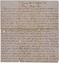 Love letter from Peter Larsen to his young wife of two years. Dear Mary Anne, dated 18 August,1872. First page, bottom of page one separate 1a.