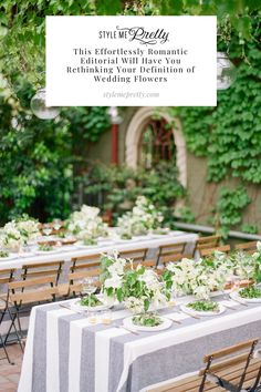 Today's editorial was intended to look simple and clean but lush and natural, so these gorgeous blooms couldn't have been a better choice to scatter throughout the ceremony and outdoor reception! LBB Photography: @theganeys #dogwood #weddingflowers @uniquewedding #outdoorwedding #weddingreception
