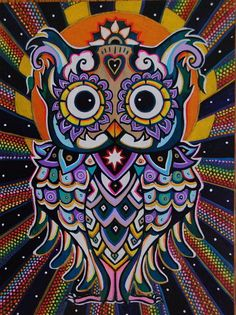 'Radiant Owl' by COSMOCTO METAFISH