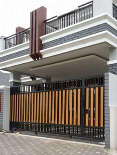 Home Gate Design, Steel Gate Design, Front Gate Design, House Front Design, Door Design, Simple Main Gate Design, House Main Gates Design, Garage Design, Gate Designs Modern