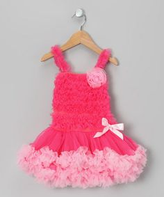 Take a look at this Hot Pink & Pink Floral Ruffle Dress - Infant, Toddler & Girls by Tutus by Tutu AND Lulu on #zulily today!