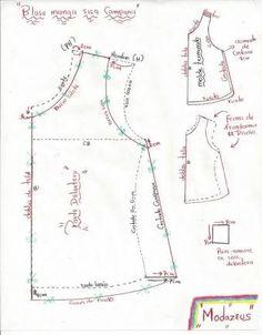 Resultado de imagen para patrones para blusas