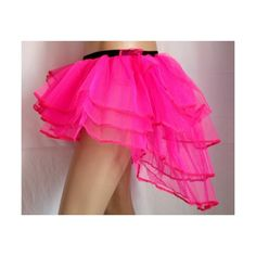 HEN NIGHT PARTY PINK BURLESQUE TUTU BUSTLE TUTU SKIRT CLUB ALL COLOURS... ❤ liked on Polyvore