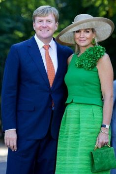 "Posted on September 5, 2013 by HatQueen....King Willem-Alexander and Queen Máxima of the Netherlands attended the opening of the ""Dreaming"" exhibition at  Het Loo Palace in Apeldoorn today."