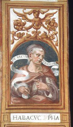 Giovan Battista Guarinoni - Abacuc - affresco - 1577 circa - Cappella centrale - Chiesa San Michele al Pozzo bianco - Bergamo (Italia)