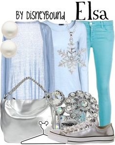 Elsa Disneybound!:) just saw this last night! Loves it!:)