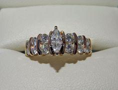 Catawiki Online-Auktionshaus: Goldring mit Diamanten - total 1.05 ct SI/VS - F bis H Farbe