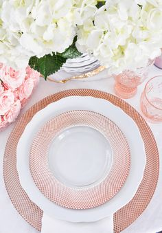 Beautiful rose gold dinnerware