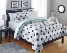 Mainstays Kids Black and White Polka Dots Bedding Twin Girls Comforter Set Piece in a Bag) Kids' Bedding Sets & Collections Tribal Bedding, Girls Comforter Sets, Comforter Sets, Comforters, Bed Comforters, Stylish Beds, Bed Linens Luxury, Kids Bedding Sets, Bed