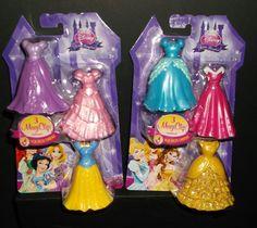 Disney Little Kingdom Royal Fashions two (3 pack) MagiClip Dresses NEW MIP #Disney