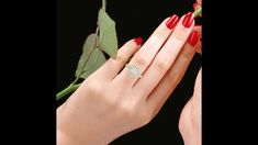 טבעת אירוסין יהלום שמסביבו יהלומים- גולדיאם D50671-1