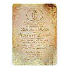 Encircled Cross Religious Wedding Invitations