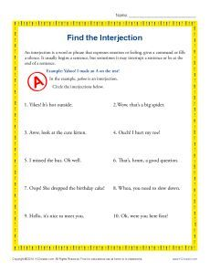 ... Interjections on Pinterest | English grammar, Grammar and Worksheets