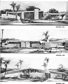 Mid-Century modern house plans poster