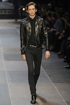 Saint Laurent Men's RTW Fall 2013 - Slideshow - Runway, Fashion Week, Reviews and Slideshows - WWD.com Fashion leather articles at 60 % wholesale discount prices #leather #leatherjacket #leatherfashion