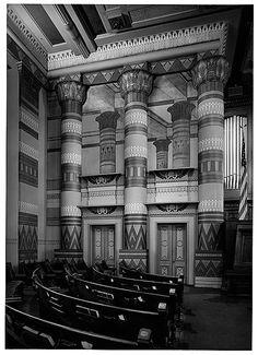 Egyptian Revival Interior, Downtown Presbyterian Church, Nashville, TN http://memory.loc.gov/ammem/collections/habs_haer/images/btn171.jpg