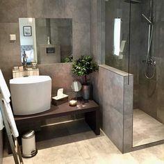 Bathroom goals ❤️ By Bathroom Goals, Bathroom Inspo, Bathroom Interior, Bathroom Ideas, Stone Bathroom, Modern Bathroom, Small Bathroom, Comfort Room, Bathroom Toilets