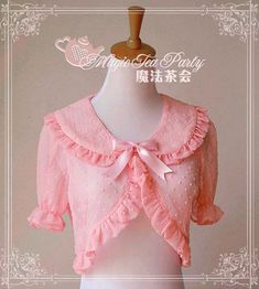 Cheap Chiffon Magic Tea Party Lolita Capelet Sale At Lolita Dresses Online Shop. We provide Lolita products with quality and best service online, lower price and top style fashion for you. Kids Blouse Designs, Saree Blouse Neck Designs, Estilo Lolita, Sari Design, Lolita Cosplay, Designer Kurtis, Myanmar Dress Design, Lolita Mode, Sleeves Designs For Dresses