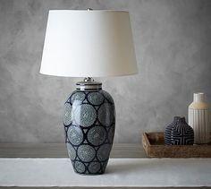 Beautiful idea to make an elegant lamp, using a vase. Table Lampshade Idea seen at Langley Ceramic Vase Lamp #potterybarn  Find DIY lamp tutorials and supplies at www.ilikethatlamp.com
