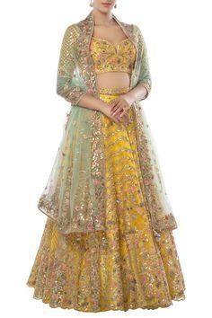 Shop Tamanna Punjabi Kapoor Embroidered Lehenga Set , Exclusive Indian Designer Latest Collections Available at Aza Fashions Latest Bridal Dresses, Indian Bridal Outfits, Indian Bridal Fashion, Indian Dresses, Mehendi Outfits, Indian Clothes, Wedding Outfits, Wedding Wear, Wedding Dresses