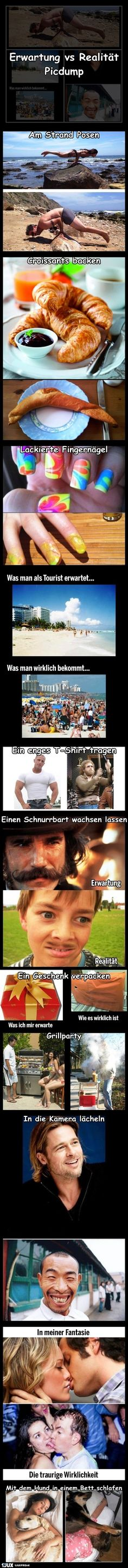 Erwartung vs Realität Comedy Comics, Funny Fails, Funny Memes, Jokes, Lol, Funny People, Just For Fun, True Words, Funny Cute