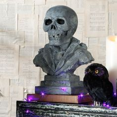 raz imports 12 resin skeleton bust halloween decor