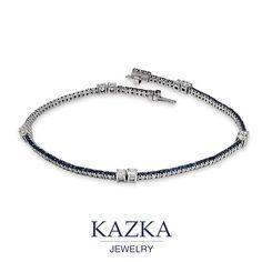 Белое золото, сапфиры и бриллианты - роскошь, воплотившаяся в совершенном ювелирном творении.  Приобрести за 73 635 грн. http://goo.gl/wOB4Xa  #kazkajewelry #украшения_kazkajewelry #jewelry #gold #diamonds #sapphire #braslet #украшения #золото #бриллианты #сапфиры #браслет #украинский_бренд