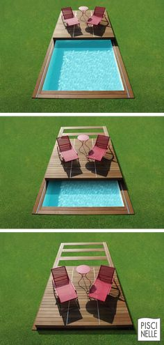 Small Swimming Pools, Small Backyard Pools, Backyard Pool Designs, Small Pools, Swimming Pools Backyard, Swimming Pool Designs, Pool Landscaping, Outdoor Pool, Piscina Spa