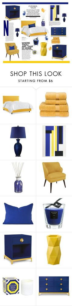 """Blue And Yellow Home (Top Home Set 07/06/2016)"" by southindianmakeup1990 ❤ liked on Polyvore featuring interior, interiors, interior design, home, home decor, interior decorating, Christy, Pier 1 Imports, Skyline and Baobab Collection"