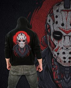 Our new Halloween range is here and we're living for it. Jason Voorhees will never die. : Available on our webstore Match Your Mood Corvid Culture #CorvidCulture #MatchYourMood #Streetwear #Halloween #Friday13th #JasonVhoores #Mask #Scary #Horror #HorrorMovies #AltFashion #mechart #mechaart #mech #mechartist