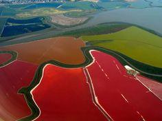 Cargill Salt Ponds in San Francisco Bay Aerial Photography