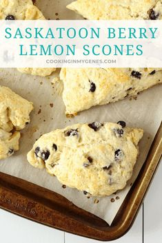 My perfect weekend morning involves coffee from a local Calgary Coffee Roaster and baked goods like my homemade Saskatoon Berry Lemon Scones. Saskatoon Recipes, Saskatoon Berry Recipe, Breakfast Smoothies, Breakfast Recipes, Lemon Scones, How Sweet Eats, Baked Goods, Cookie Recipes, Breads