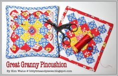Tutorial  -  Great Granny Pincushion bitty bits & pieces - bitty bits & pieces