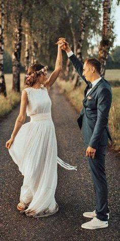 Cute Modest Wedding Dresses To Inspire ★ modest wedding dresses a line sleeveless for beach lukasleonte photography