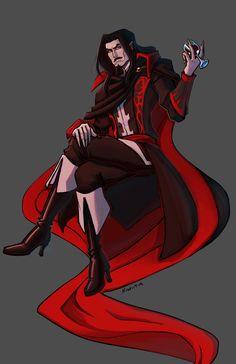 I just miss Castlevania— Castlevania Dracula, Alucard Castlevania, Castlevania Netflix, Castlevania Lord Of Shadow, Final Fantasy Cloud, Dark Fantasy, Fantasy Art, Werewolf Hunter, Real Vampires