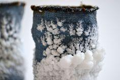 Debbie Lyddon: Blue Salt Pots :detail New Member 62 Group 2014