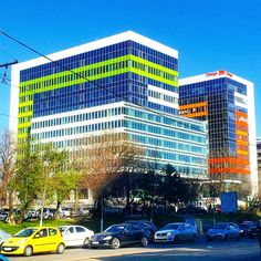 Colorful business building - Colorful #business #building in #Bucharest #Romania #architecture #travel - More here http://travel.prwave.ro/colorful-business-building-in-bucharest/
