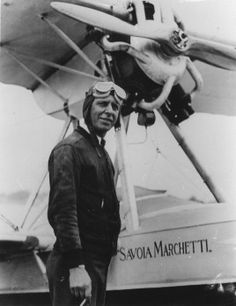 William B. Atwater, early Port Washington aviator, entered races, flew to Bermuda, and set speed records.