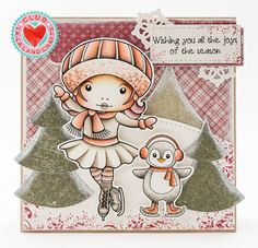 From our Design Team! Card by Tamara Potočnik featuring Club La-La Land Crafts November 2015 exclusive Figure Skater Marci, Winter Fun stamp set and these Dies - Hanging Snowflakes, Nested Trees and Stitched Bracket Border :-) Club La-La Land Crafts subscription details are here - http://lalalandcrafts.com/Club_La-La_Land_Crafts.html  Coloring details and more Design Team inspiration here - http://lalalandcrafts.blogspot.ie/2015/12/club-la-la-land-crafts-november-2015.html