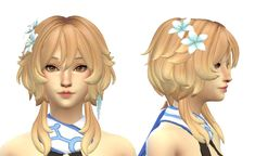 Sims 4 Anime, Mod Hair, Sims 4 Collections, Doraemon Cartoon, Sims 4 Characters, Sims 4 Mm, Sims Hair, Sims 4 Update, Sims 4 Cc Finds