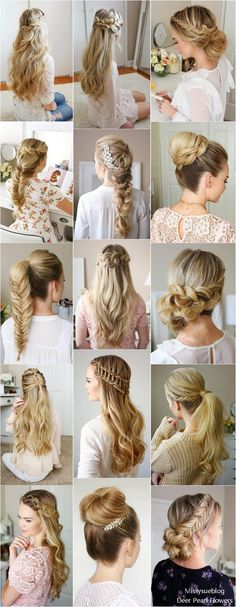 Long Wedding & Prom Hairstyles from Missysueblog #wedding #weddingideas #promhair #hairstyle #deerpearlflowers