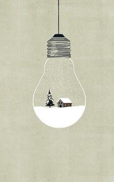 """The snow is sparking like a million little suns"" - LAMA WILLA MILLER - (Design by concept illustrator Alessandro Gottardo)"