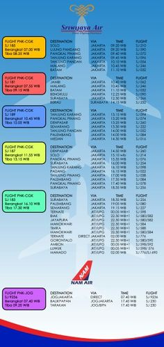 Rencanakan liburan Anda dengan terbang bersama kami. Booking : www.sriwijayaair.co.id