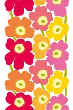A favorite Marimekko print in plastic coated cotton---hello tablecloth!