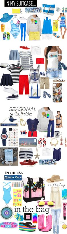 """Have Beach Bag Will Travel"" by drdevience on Polyvore"