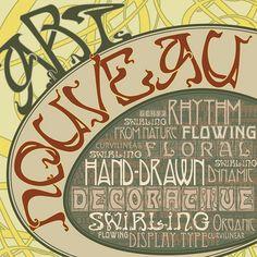 Art Nouveau typography album cover by Mario Colombini, via Flickr